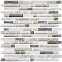 12 in. x 12 in. Electroplated Glass Mosaic Tile - 8mm Thickness (DK-RS234873A4)