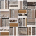 12 in. x 12 in. Electroplated Glass Mosaic Tile - 8mm Thickness (DK-MGN12340A2)