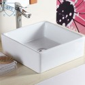 Decoraport White Square Ceramic Above Counter Basin (CL-1044)