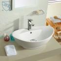 White Ceramic Above Counter Basin (DK-LSE-8001)