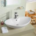 White Ceramic Above Counter Basin (DK-LSE-8179)