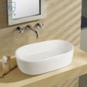 White Ceramic Above Counter Basin (DK-LSE-8041)
