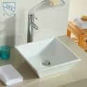 White Ceramic Above Counter Basin (DK-LSE-8049)