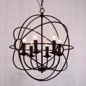 Iron Built 6-Light Modern Globe Chandelier/Diameter 22 Inch (C6024-6)