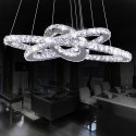Stainless Steel and Crystal Built Adjustable Modern LED Chandelier/24'' Wide with 3 Rings (BH-D5314)