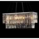 Iron & Crystal Built Modern Style 4-Light Pendant with 1 Tier (PL7090)