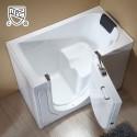 52 x 29 In Walk-in Soaking Bathtub - Acrylic White with Left Drain (DK-Q372-L)