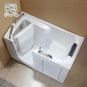 53 x 26 In Walk-in Soaking Bathtub - Acrylic White with Left Drain (DK-Q373-L)