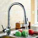 Chrome Finished Brass Faucet - Pull Out Spray Head (82H11-CHR)