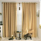 "Gold Embossed Blackout Grommet Curtain Panel - 42"" W x 84"" L (DK-GT001)"