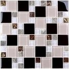 12 in. x 12 in. Electroplated Glass Mosaic Tile - 8mm Thickness (D0434B1)