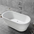 59 In Freestanding Bathtub - Acrylic Pure White (DK-PW-17572)