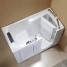 53 x 26 In Walk-in Soaking Bathtub - Acrylic White with Right Drain (DK-Q373-R)