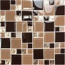 12 in. x 12 in. Electroplated Glass Backsplash Tile - 8mm Thickness (SH04A3)