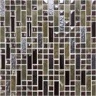 12 in. x 12 in. Electroplated Glass Mosaic Tile - 8mm Thickness (K15038)