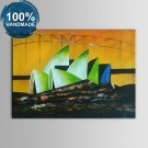 100% Hand Painted Abstract Landscape Oil Painting on Canvas (DK-JX-YH011)