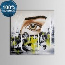 100% Hand Painted Abstract Oil Painting on Canvas (DK-JX-YH020)