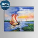 100% Hand Painted Abstract Seascape Oil Painting on Canvas (DK-JX-YH033)