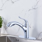 Chrome Finished Brass Kitchen Faucet - Pull Out Spray Head (82H22-CHR)