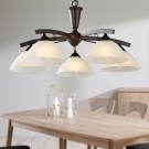 5-Light Brown Iron Modern Chandelier with Glass Shades (HKP31288-5)