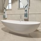 71 In Double Slipper Synthetic Stone Freestanding Bathtub - Matte White (DK-HA8604)