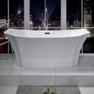 59 In Freestanding Bathtub - Acrylic Pure White (DK-PW-78575)