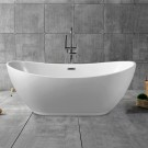 62 In Freestanding Bathtub - Acrylic Pure White (DK-PW-10672)