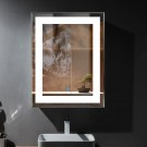 28 x 36 In Vertical LED Bathroom Mirror with Touch Button (DK-OD-CK168-I)