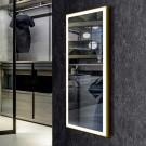 DECORAPORT 48 x 20 Inch LED Full-Length Dress Mirror with Touch Button, Light Luxury Gold, Dimmable, Cold&Warm Lights (DJ2-4820-G)