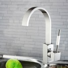 Basin&Sink Faucet - Single Hole Single Lever - Brass with Chrome Finish (6211)