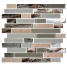 12.8 in. x 11.8 in. Glass and Stone Blend Strip Mosaic Tile - 8mm Thickness (DK-8NF0305-010)