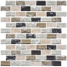 12 in. x 12 in. Electroplated Glass Mosaic Tile - 8mm Thickness (DK-RS2348S02)