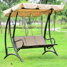 Three-Seat Patio Swing with Iron Frame (YZ-015)