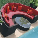 Wicker Patio Sectional with Cushion (JMS-635)