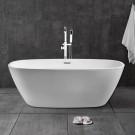 60 In Freestanding Bathtub - Acrylic Pure White (DK-PW-28572)