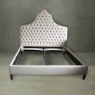 King Platform Bed with Tufted Upholstered Headboard (PJB00115)