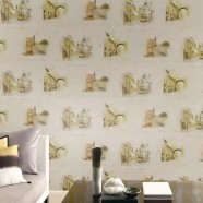 Wallpaper / PVC 3D Scenic Pattern Room Wall Decoration (57 sq.ft/Roll) (DK-SE451202)