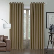 "Brown Embossed Blackout Grommet Curtain Panel - 42"" W x 84"" L (DK-GT003)"