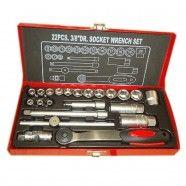 3/8 Inch 22pcs Socket Wrench Set (TK-008)