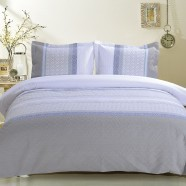 3-Piece Gray and White Duvet Cover Set (DK-LJ009)
