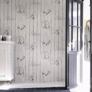 Wallpaper / PVC 3D Scenic Pattern Room Wall Decoration (57 sq.ft/Roll) (DK-SE451301)