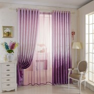 "Purple Jacquard Blackout Grommet Curtain Panel - 42"" W x 96"" L (DK-GT005)"