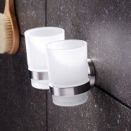 Round Double Tumbler Holder - Stainless Steel (30368)