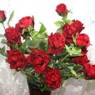 """Artificial Rose Flower/5 Heads/Piece - 42"""""""