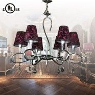 Chrome Finish Built Classic Style 6-Light Chandelier (HYD61548-6)