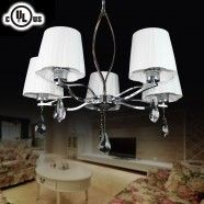 Chrome Finish Built 5-Light Modern Chandelier (HYX61424-5)