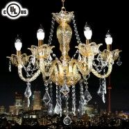 Crystal Built Classic Style 6-Light Chandelier/Diameter 23 Inch (80116)