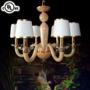 Glass Built 6-Light Modern Chandelier/Diameter 24 Inch (HD9330-6)