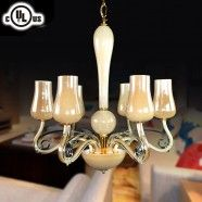Glass Built 6-light Modern Chandelier/Diameter 24 Inch (HD9328-6)