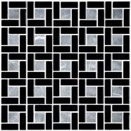 12 in. x 12 in. Glass/Stone Blend Mosaic Tile - 8mm Thickness (A15454-B)